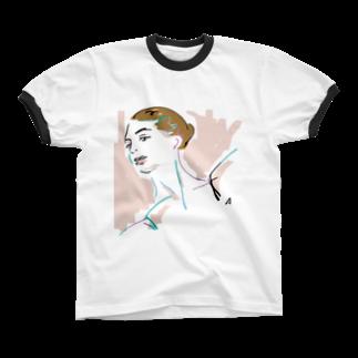 sumireiro01の美女55 Ringer T-shirts