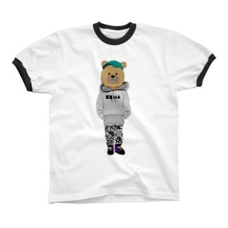 くまさん リンガーTシャツ