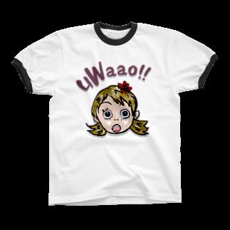 honey-designのuWaao Ringer T-shirts