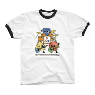 marusankakushikaku リンガーTシャツ