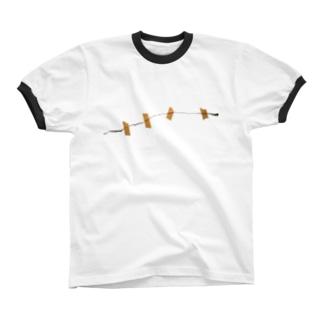 マスキング02 リンガーTシャツ