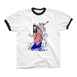 かなでとお化け リンガーTシャツ