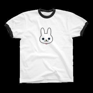 ラキフルの鼻たれウサギ Ringer T-shirts