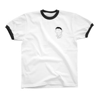 ブスあー リンガーTシャツ