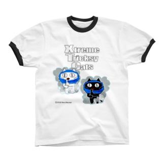 ネコ兄弟 XTC_045 リンガーTシャツ