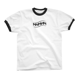 MNMNM_波 リンガーTシャツ