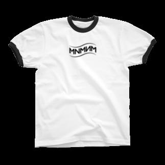 MNMNMのMNMNM_波 Ringer T-shirts