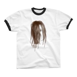 peeping_eye Ringer T-shirts