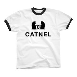 CATNEL 目覚め Ringer T-shirts