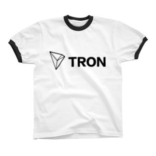 仮想通貨TRON -  [B] リンガーTシャツ