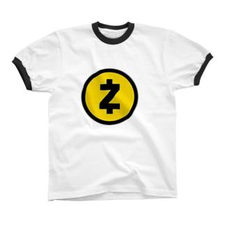 Zcash -logo- リンガーTシャツ