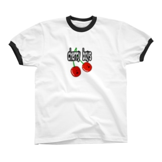 cherry boys リンガーTシャツ