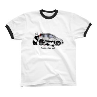 イタリアの車が好き3★リブ Ringer T-shirts