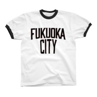 福岡シティTシャツ(レガシー) Ringer T-shirts