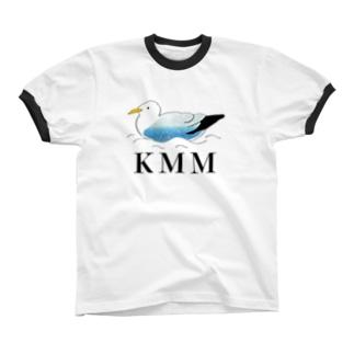 カモメはカモメ(KMM) リンガーTシャツ