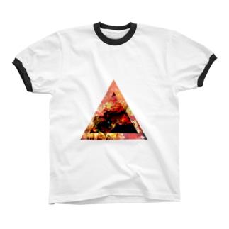 ▲3【三角形の穴】  リンガーTシャツ