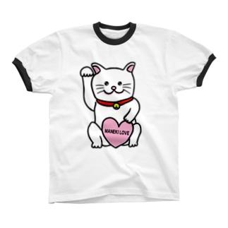 招きLOVE リンガーTシャツ