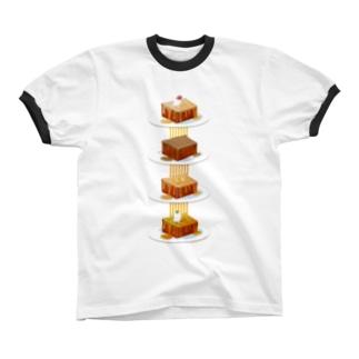 本日のハニートースト Ringer T-shirts