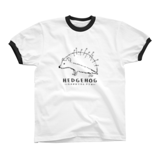 Aliviostaのマチバリネズミ リンガーTシャツ