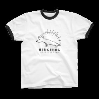 Aliviostaのマチバリネズミ Ringer T-shirts
