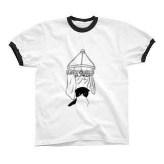 囲い リンガーTシャツ