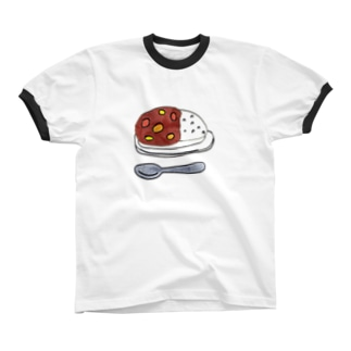 カレー好き、ただそれだけ。 Ringer T-shirts