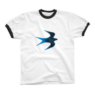 青い鳥 リンガーTシャツ