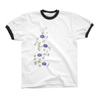 鉄扇の花 リンガーTシャツ
