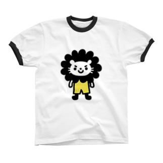 もじゃもじゃ Ringer T-shirts