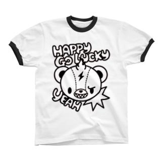 Spunky Bear リンガーTシャツ