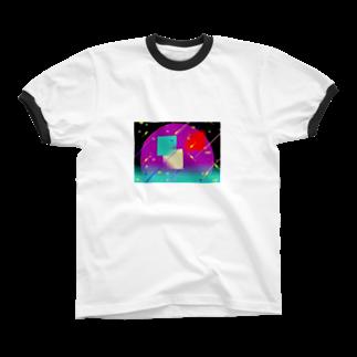 退化現象 硯出張所のPixel Color Composition ll Ringer T-shirts