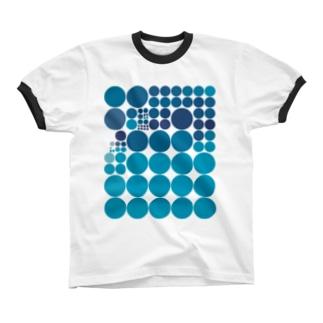 水玉シリーズ27 Ringer T-shirts