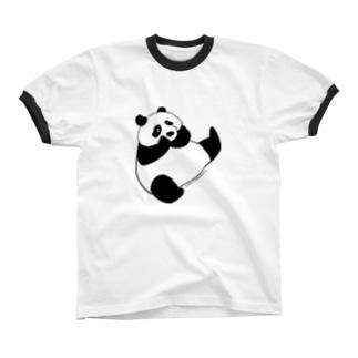 Panda panda リンガーTシャツ