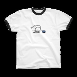 egu shopのデニムに合う リンガーTシャツ