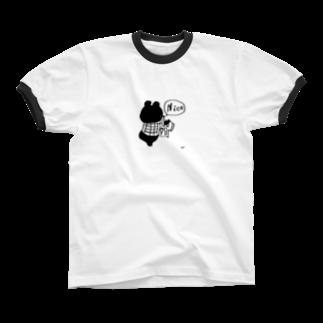 egu shopのnice kuma リンガーTシャツ