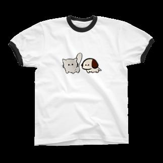 といすのわんにゃん Ringer T-shirts