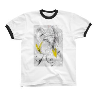 banana_lady リンガーTシャツ