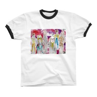 fashion_lady リンガーTシャツ