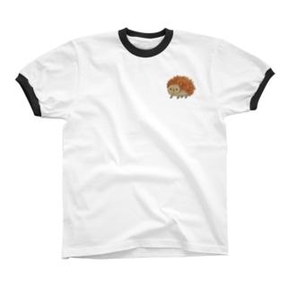 輝石ハリネズミ1 Ringer T-shirts