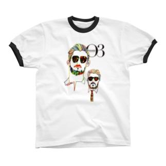 O3 オッサン ロゴヴァージョン リンガーTシャツ