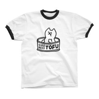 トーフ缶 Ringer T-shirts