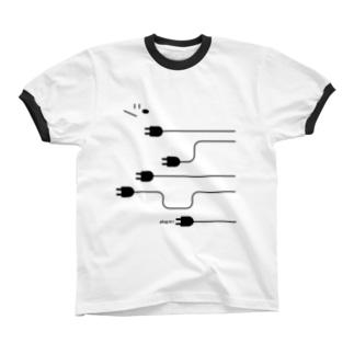 plug in ! (No.4) リンガーTシャツ