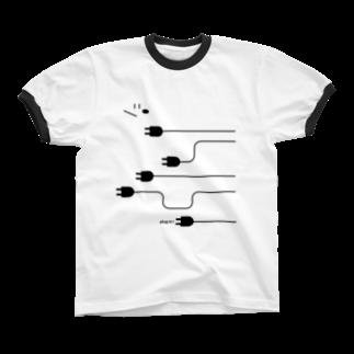 YASUKOのplug in ! (No.4) Ringer T-shirts