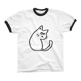 ふりむくねこ リンガーTシャツ
