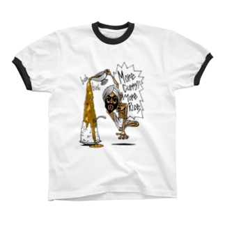 More Curry!More Rice! リンガーTシャツ