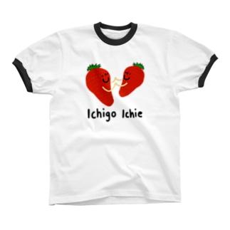 イチゴ一会 リンガーTシャツ