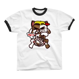 Bring it on. Cat リンガーTシャツ