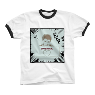 Kengo Kitajimaのダーク良太(LOVE MUSIC) Ringer T-shirts