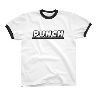 PUNCH ホワイト Ringer T-shirts