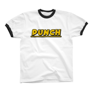 PUNCH イエロー Ringer T-shirts